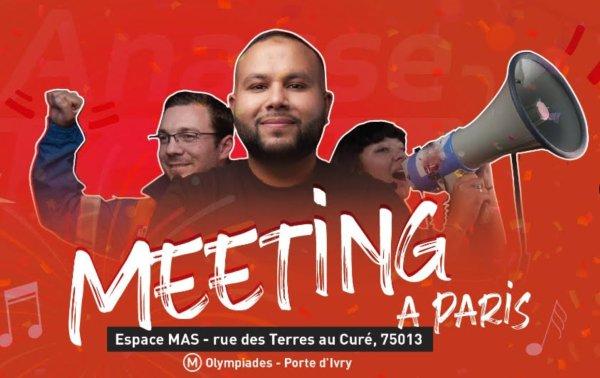 Anasse Kazib 2022 : soirée meeting et concert de lancement de campagne le 20 octobre à Paris !