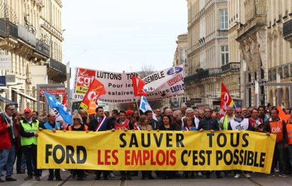Bordeaux : Journée de mobilisation en soutien aux Fords