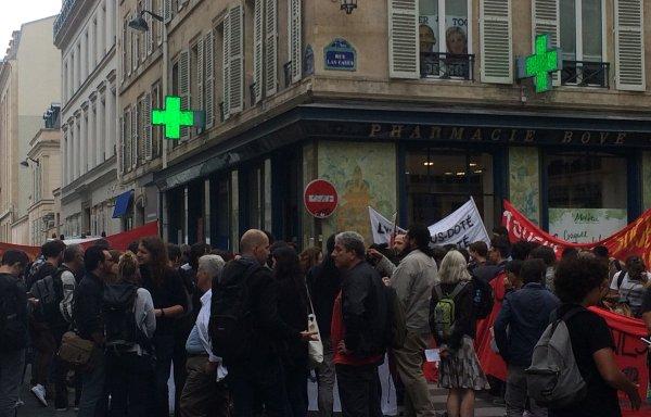 Lycées en grève et en colère devant le Conseil Régional d'Île-de-France
