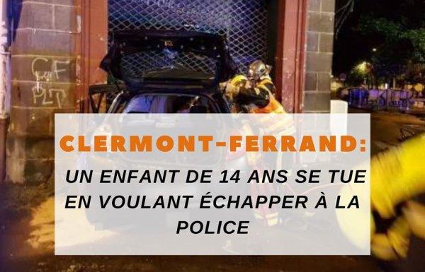Clermont-Ferrand : Un enfant de 14 ans se tue en voulant échapper à la police