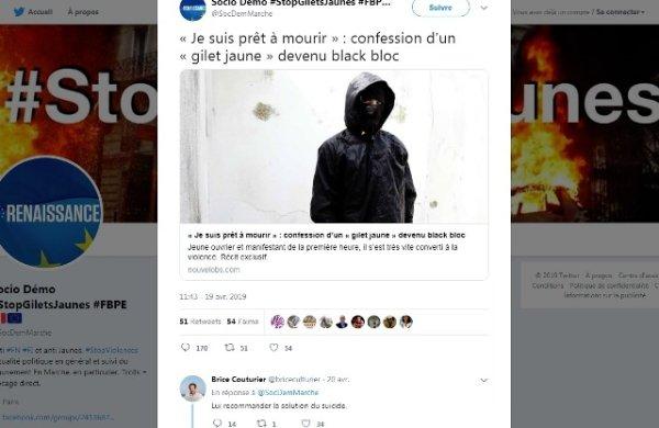 Quand un journaliste de France Culture recommande « la solution du suicide » à un Gilet Jaune