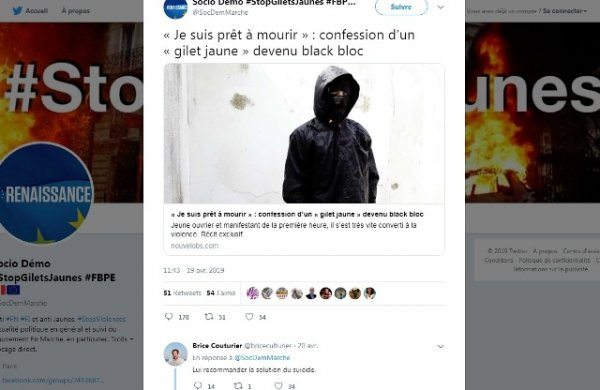Quand un journaliste de France Culture recommande « la solution du suicide » à un Gilet Jaune
