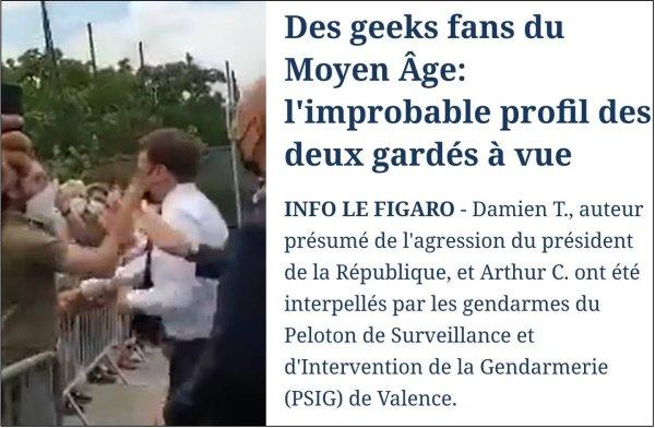 Complaisance avec l'extrême-droite : le Figaro décrit le gifleur royaliste comme un « geek fan du Moyen Âge »