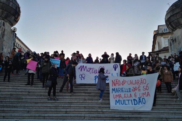 « Marielle, presente ! » Dans la ville de Coimbra aussi la solidarité internationale avec Marielle Franco s'organise