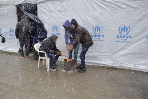 Des milliers de réfugiés risquent la mort frappés par la vague de froid