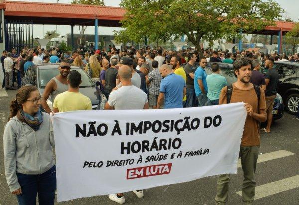 Portugal : Solidarité internationale contre le travail obligatoire le samedi dans l'automobile