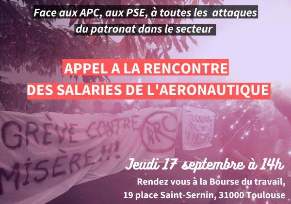 Toulouse. Des salariés appellent à une rencontre des travailleurs de l'aéronautique le 17 septembre