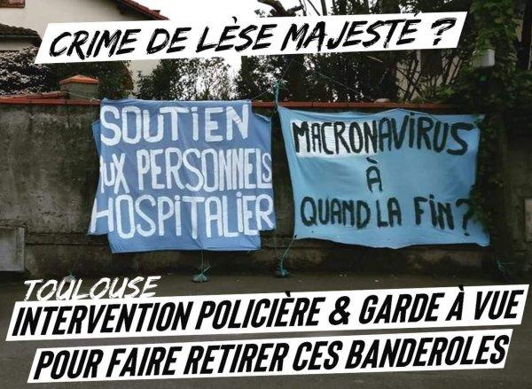 Toulouse : de la garde à vue pour une banderole !