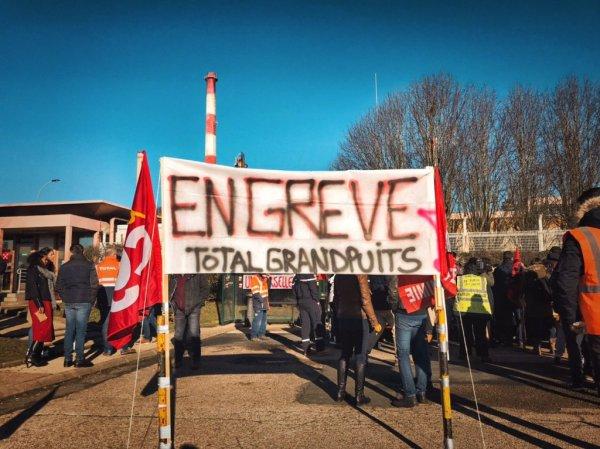 Raffinerie de Grandpuits : les grévistes durcissent le mouvement, blocage total des expéditions pendant 96h