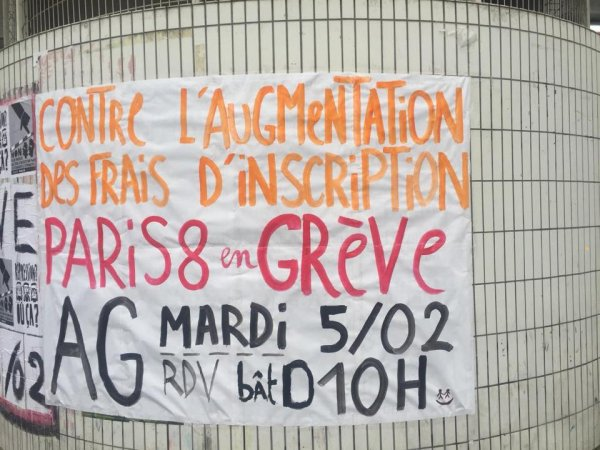 Paris 8 n'augmentera pas ses frais d'inscription pour les étudiants étrangers : info ou intox ?