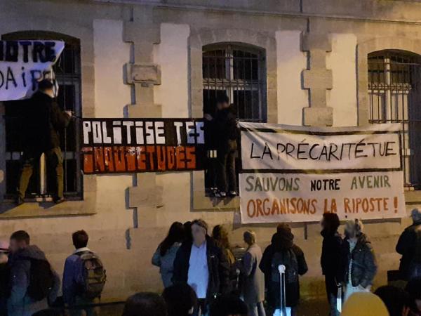Bordeaux. Mobilisation des jeunes en soutien à l'étudiant de Lyon, contre la précarité