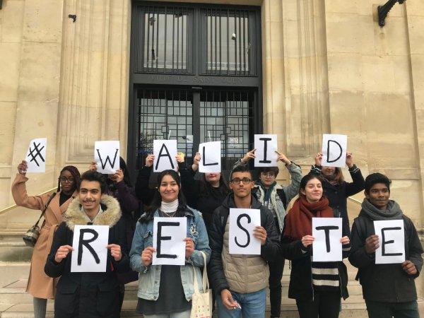 Contre l'expulsion de Walid, lycéen à Saint-Ouen, et pour la régularisation de tous les sans-papiers