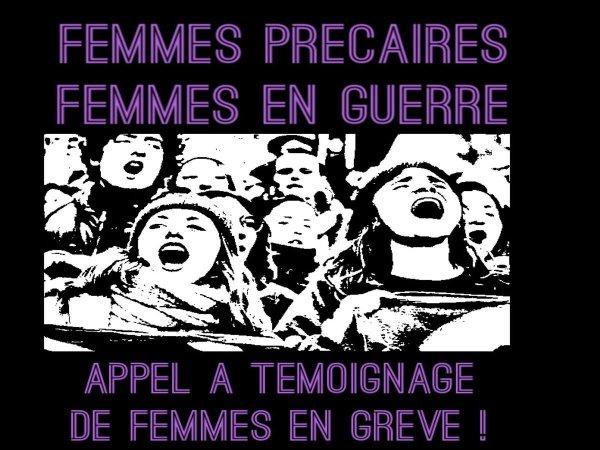 Appel à témoignages de femmes grévistes ! Faisons entendre les voix de celles qui luttent chaque jour !