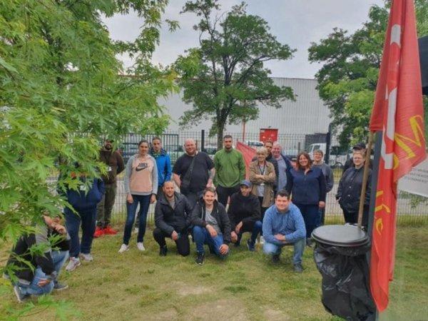 VIDEO. Les salariés de Neuhauser en grève soutiennent les Derichebourg Aero en lutte !