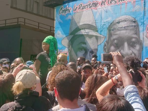 Fresque Adama Traoré. Alliance obtient l'effacement de la mention de violences « policières »
