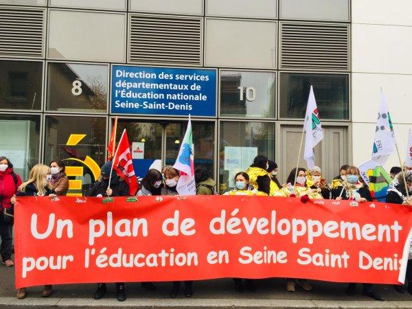 « On veut du monde ! » réclament les agents de l'Education mobilisés dans le 93