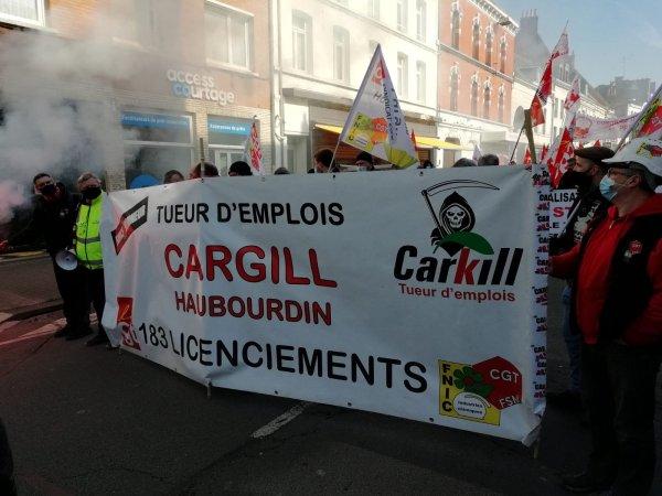 Cargill : « depuis le Covid, les PSE s'enchainent », plus de 300 manifestants à Douai contre les licenciements