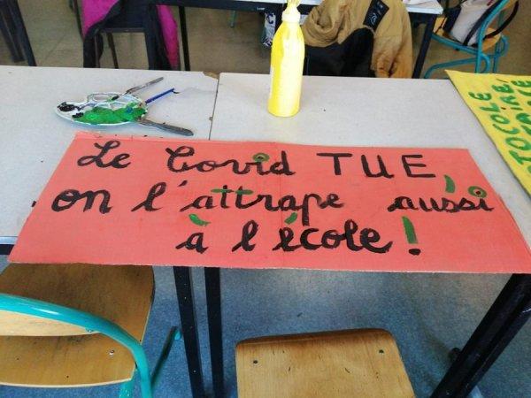 """""""Pas de protocole ? Pas d'école"""" : des professeurs du collège Diderot d'Aubervilliers en droit de retrait"""