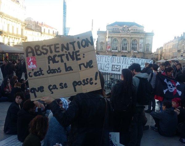 Macron président. 150 personnes dans la rue à Montpellier