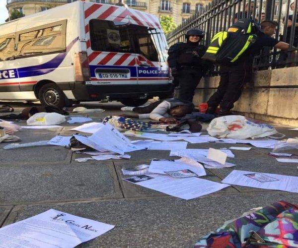 Violente répression policière des Gilets noirs qui occupaient le Panthéon pour leur régularisation